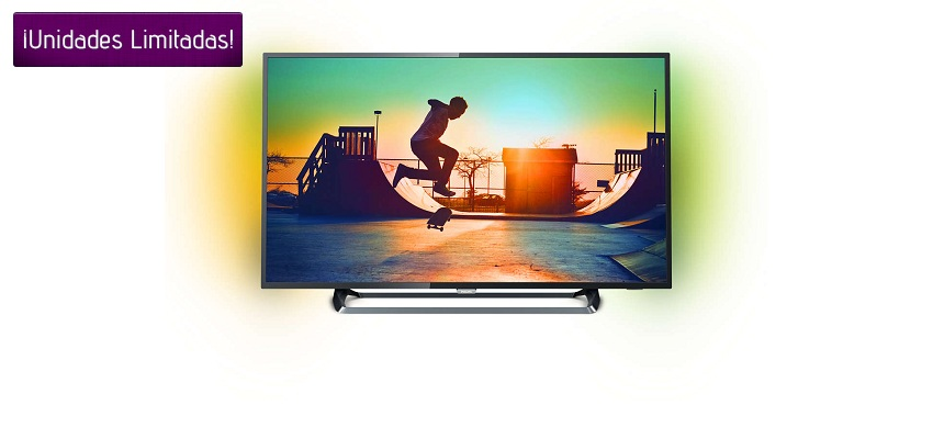 ¡CHOLLO! TV LED PHILIPS 50PUS6262/12 4K CON SMART TV, HDR PLUS Y AMBILIGHT POR 398€
